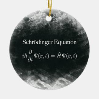 Ornement Rond En Céramique Maths d'équation de Schrödinger et physique de