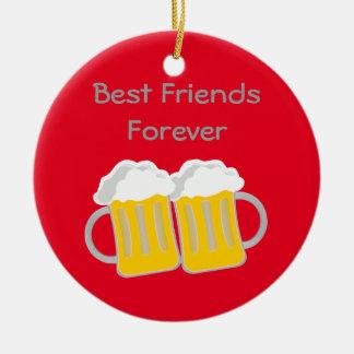 Ornement Rond En Céramique Meilleurs amis pour toujours