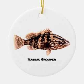 Ornement Rond En Céramique Mérou de Nassau