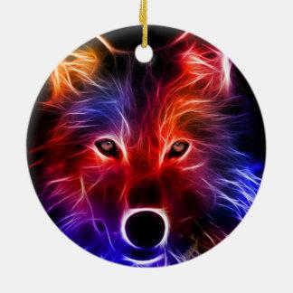 Ornement Rond En Céramique Merveille de loup