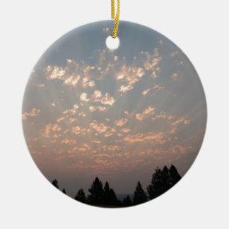 Ornement Rond En Céramique Messager de ciel