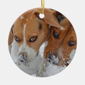 Ornement Rond En Céramique Milou flaire des beagles