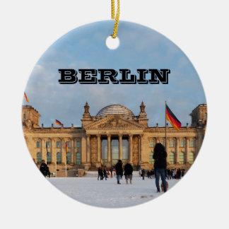 Ornement Rond En Céramique Milou Reichstag_001.02 (Reichstag im Schnee)