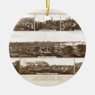 Ornement Rond En Céramique Milwaukee 1882