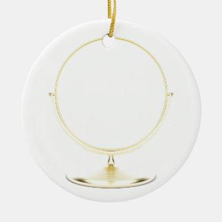 Ornement Rond En Céramique Miroir de maquillage d'or