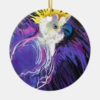 Ornement Rond En Céramique Miscellaneous - Pastel Animal Portrait Pattern One
