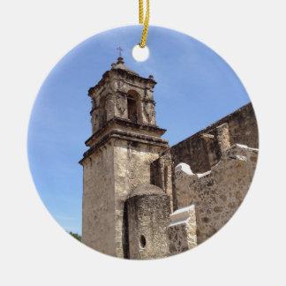 Ornement Rond En Céramique Mission San Jose - San Antonio, le Texas