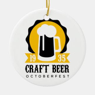 Ornement Rond En Céramique Modèle de conception de logo de bière de métier