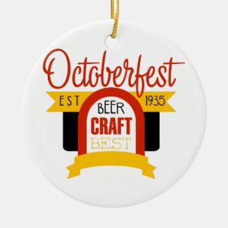 Ornement Rond En Céramique Modèle de conception de logo d'Oktoberfest