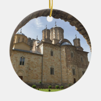 Ornement Rond En Céramique Monastère en Serbie