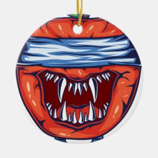 Ornement Rond En Céramique Monstre Apple