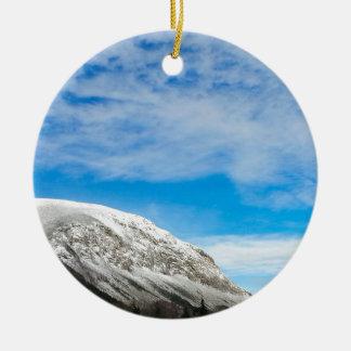 Ornement Rond En Céramique Montagnes blanches New Hampshire