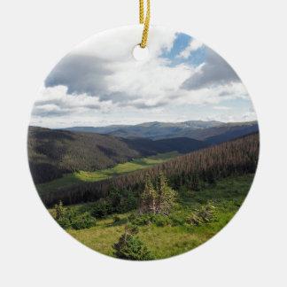 Ornement Rond En Céramique montagnes rocheuses dans le Colorado