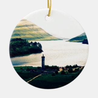 Ornement Rond En Céramique Monument de Glenfinnan