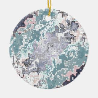 Ornement Rond En Céramique Motif abstrait de pastels