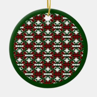 Ornement Rond En Céramique Motif de cadeau de Noël