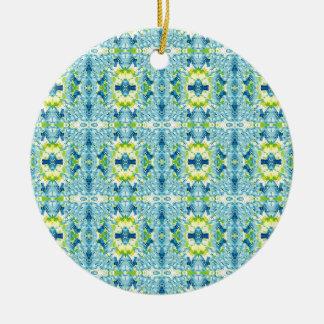 Ornement Rond En Céramique Motif géométrique artistique de fractale de citron