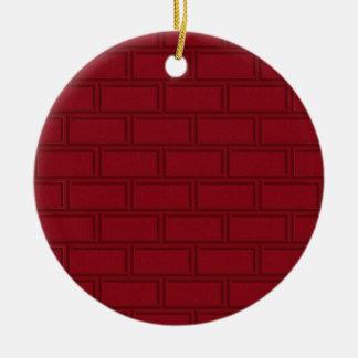 Ornement Rond En Céramique Motif rouge frais de mur de briques de bande