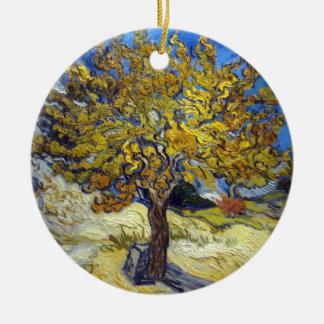 Ornement Rond En Céramique Mûrier de Vincent van Gogh