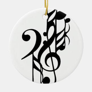 Ornement Rond En Céramique Musical_notes