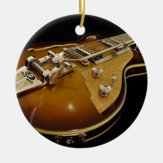 Ornement Rond En Céramique Musique rock de musique d'instrument de guitare