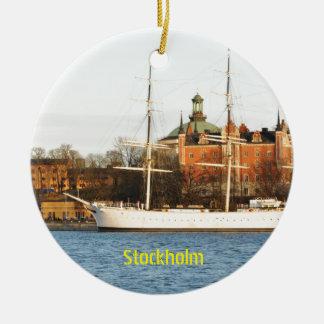Ornement Rond En Céramique Naviguant à Stockholm, la Suède