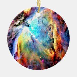 Ornement Rond En Céramique Nébuleuse d'Orion