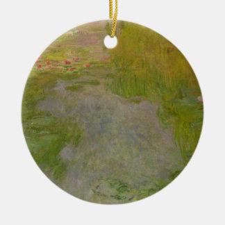 Ornement Rond En Céramique Nénuphars de Claude Monet |, c.1919 (huile sur la
