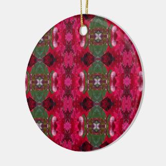 Ornement Rond En Céramique Noël colore l'ornement de cercle de kaléidoscope