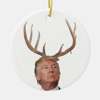 Ornement Rond En Céramique Noël d'atout : Monsieur le Président cerfs communs
