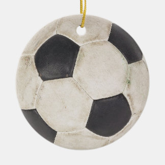 Ornement Rond En Céramique Noël de cadeau de footballeurs d'idée de cadeau de