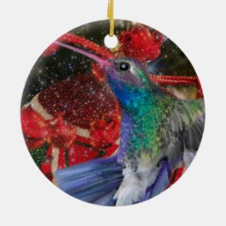 Ornement Rond En Céramique Noël de colibri