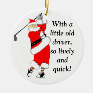 Ornement Rond En Céramique Noël de golf collectable