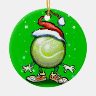 Ornement Rond En Céramique Noël de tennis