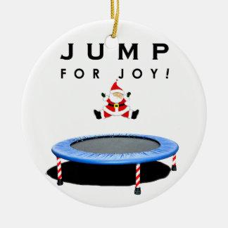 Ornement Rond En Céramique Noël de trempoline