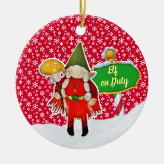 Ornement Rond En Céramique Noël en service des elfes de FD ornemente 53086A4