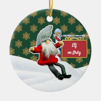 Ornement Rond En Céramique Noël en service des elfes de FD ornemente 53086B5
