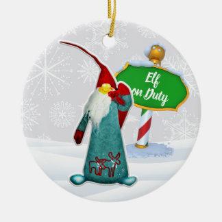 Ornement Rond En Céramique Noël en service des elfes de FD ornemente 53086C4