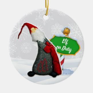 Ornement Rond En Céramique Noël en service des elfes de FD ornemente 53086C5