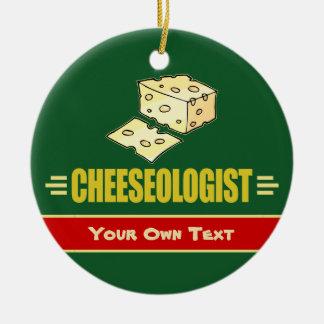 Ornement Rond En Céramique Noël fait sur commande drôle de fromage