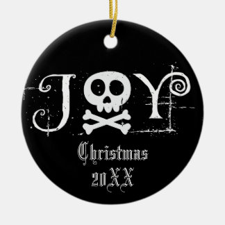 Ornement Rond En Céramique Noël gothique de joie