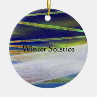 Ornement Rond En Céramique Noël léger arctique d'ornement de solstice d'hiver