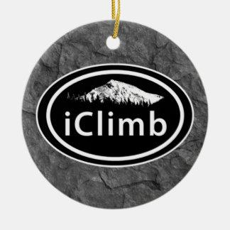 Ornement Rond En Céramique Noël s'élevant personnalisé de montagne d'iClimb