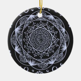 Ornement Rond En Céramique Noircissez, en réveillant le motif de zen,