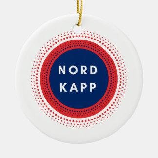 Ornement Rond En Céramique Nordkapp Norvège