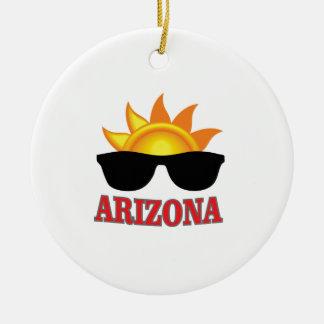 Ornement Rond En Céramique nuances de l'Arizona ouais