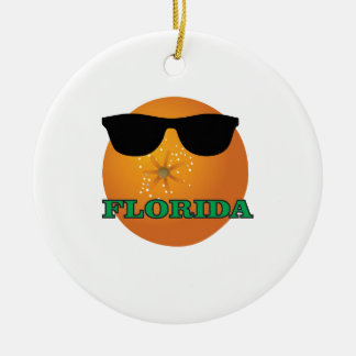 Ornement Rond En Céramique nuances vertes de la Floride