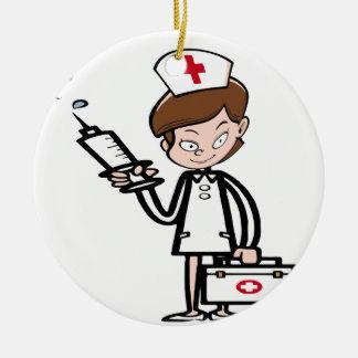 Ornement Rond En Céramique nurse20