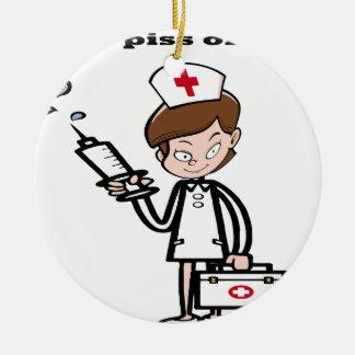 Ornement Rond En Céramique nurse7