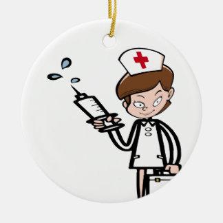 Ornement Rond En Céramique nurse8